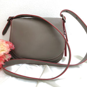Coach Saddle Bag 9170, in Glovetanned Leather Fog